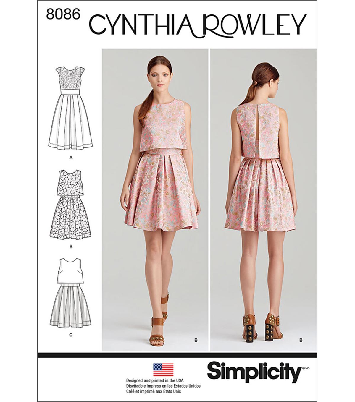 e2f08f0e684 Simplicity Patterns US8086D5 Dresses-4-6-8-10-12