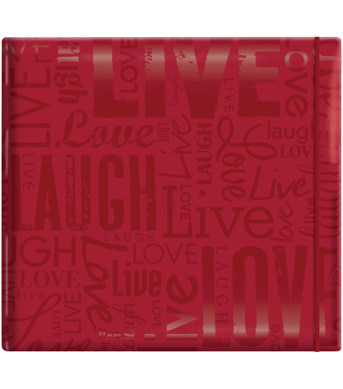 MBI Gloss Scrapbook 12\u0022X12\u0022-Live Love Laugh-Red
