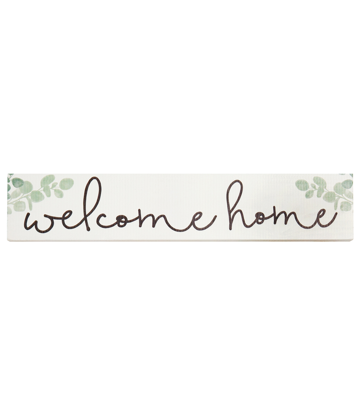 Simply Spring Wood Block-Welcome Home
