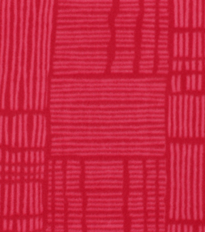 Blizzard Fleece Fabric-Pink Geometric on Red