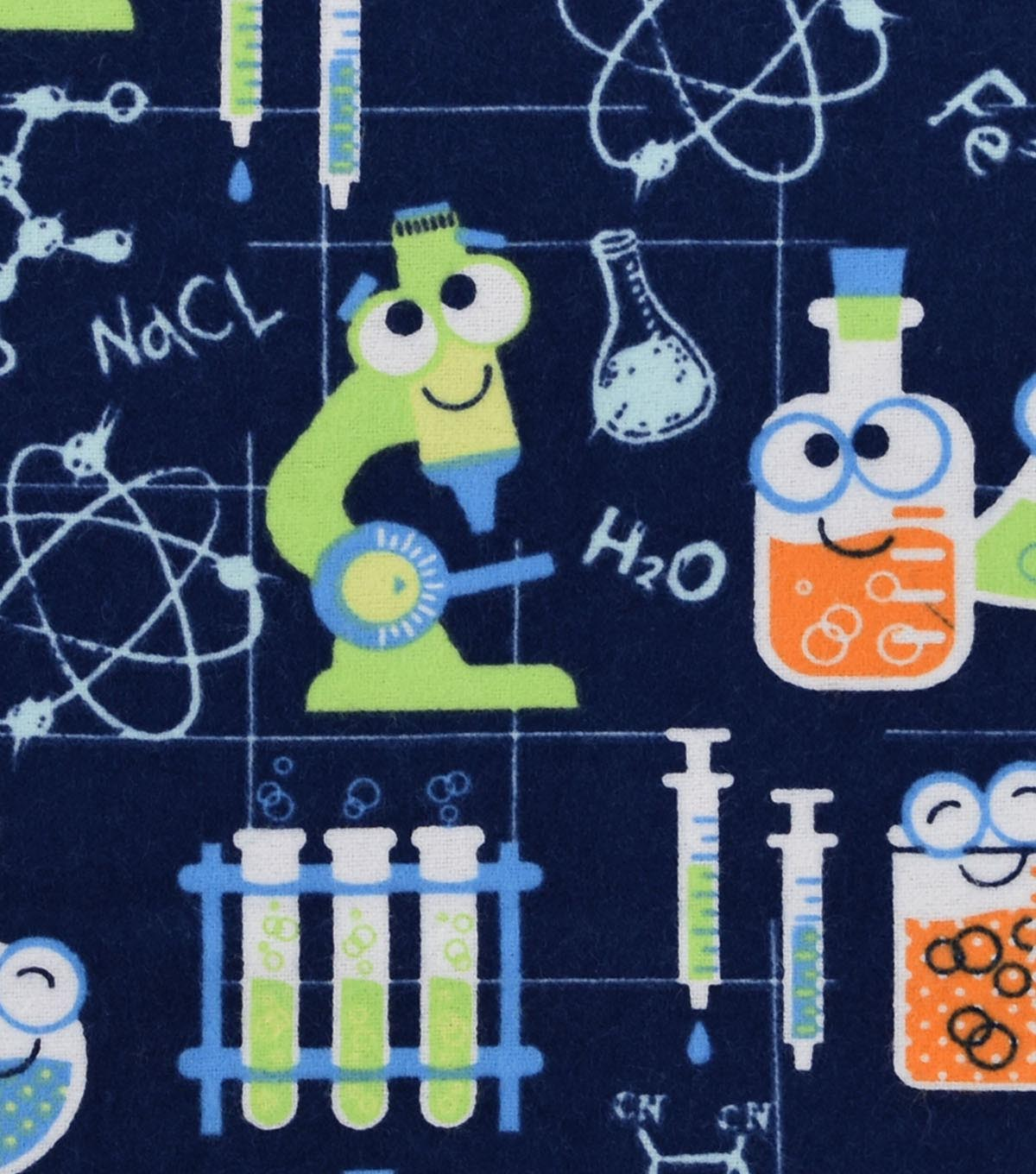 Snuggle Flannel Fabric -Science Lab
