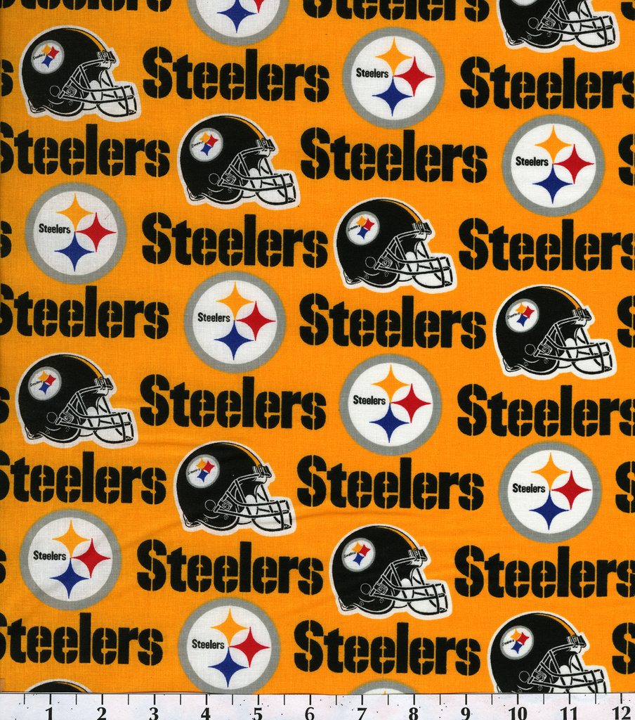 size 40 4dd17 1911d Pittsburgh Steelers Cotton Fabric -Yellow