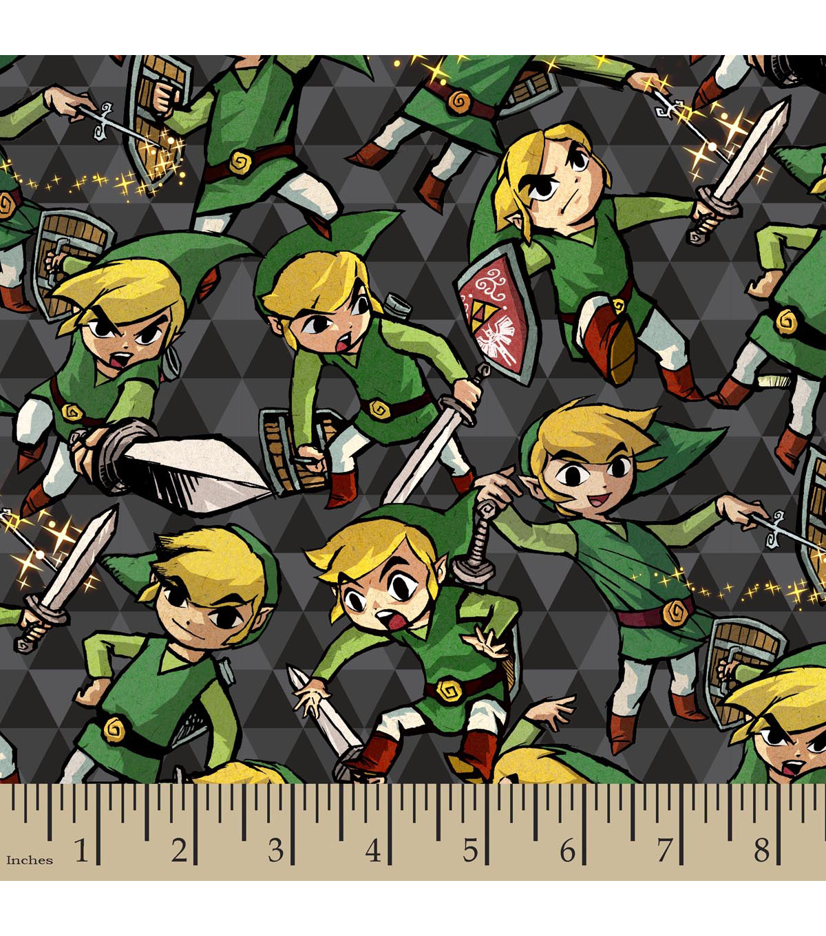 Nintendo The Legend of Zelda Flannel Fabric -Sword And Shield