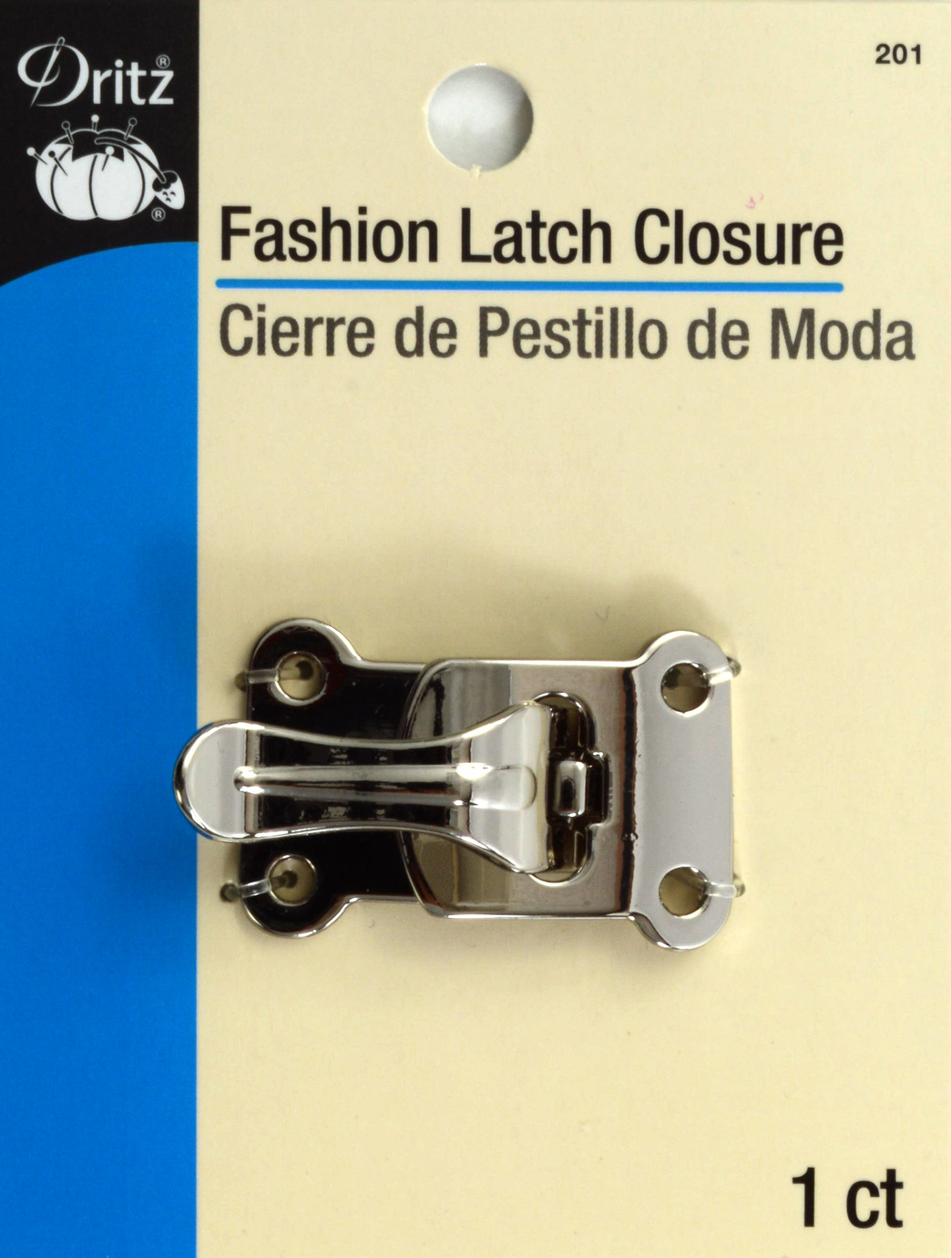 Fashion Latch Closure-Silver