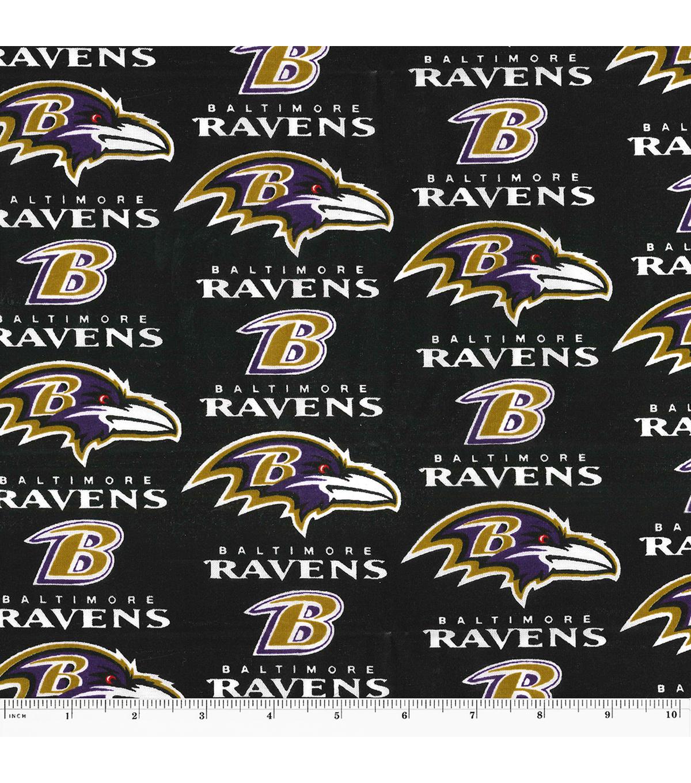 Baltimore Ravens Logo Cotton Fabric 60