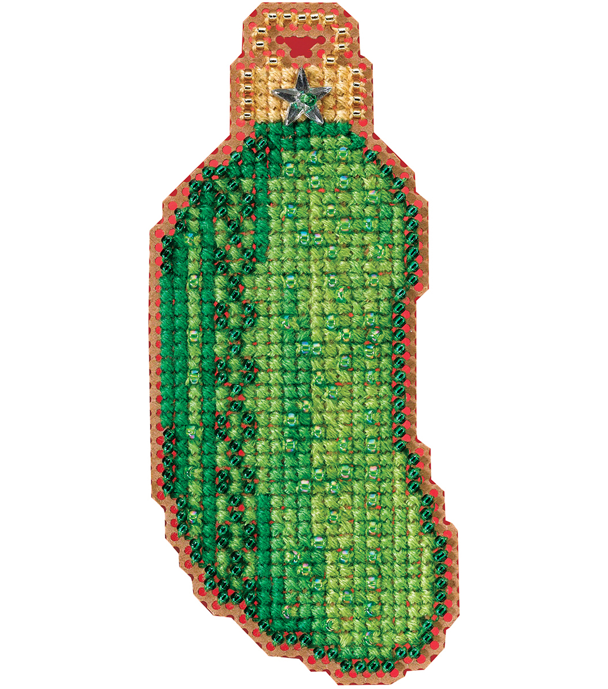 Mill Hill Counted Glass Bead Kit with Treasure-Christmas Pickle