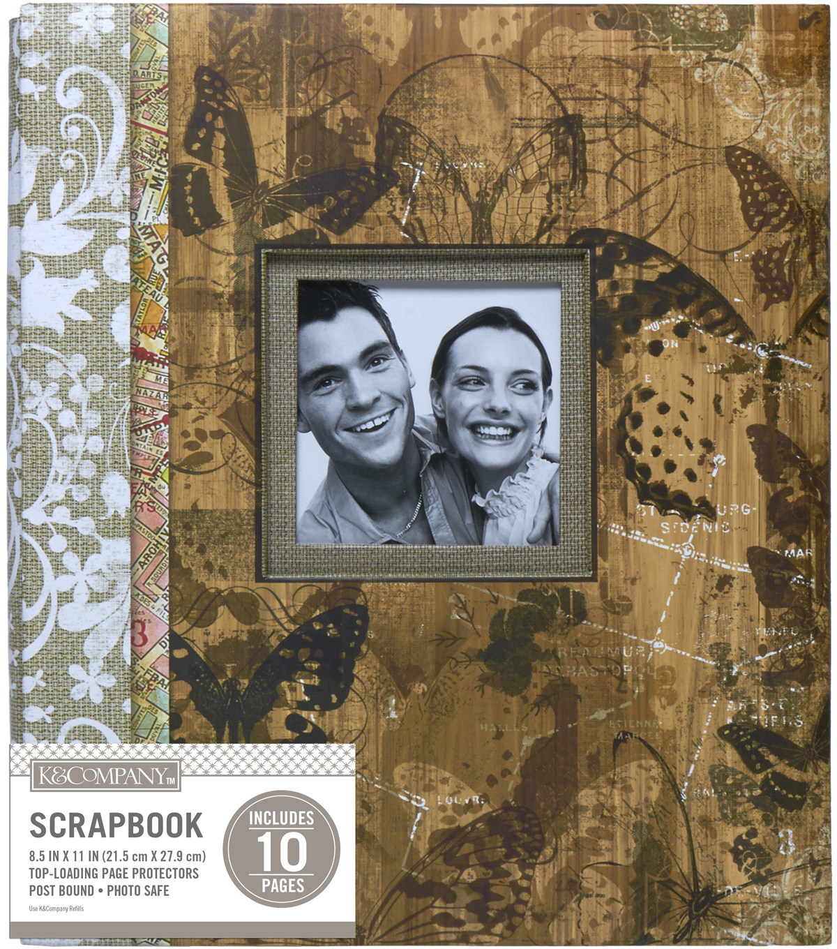 K&Company Vintage Floral Collage 8.5\u0022x11\u0022 Window Scrapbook