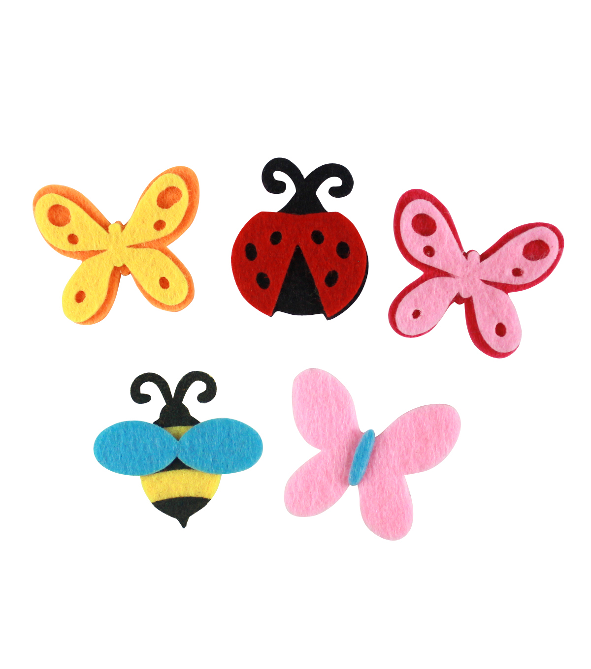Little Makers Felt Adhesive Stickers-Bugs