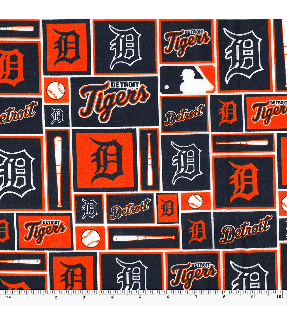 Detroit Tigers Cotton Fabric -Patch