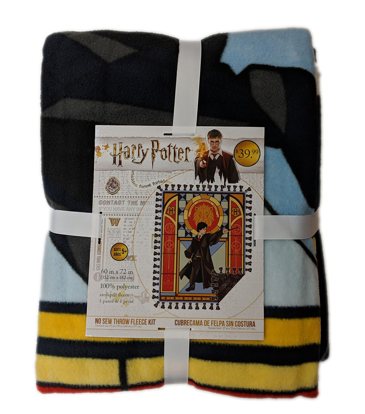 Harry Potter No Sew Fleece Throw Kit-Stained Glass