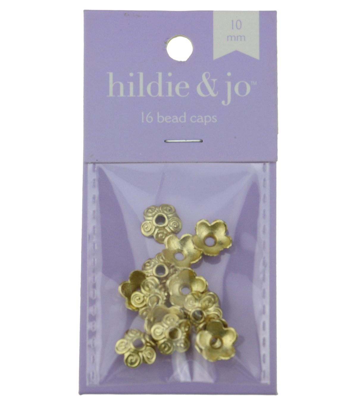 hildie & jo 16 Pack 10mm Flower Gold Bead Caps