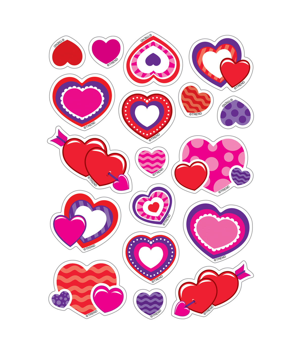 Sweet Hearts-Cherry Mixed Shapes Stinky Stickers 6 Packs