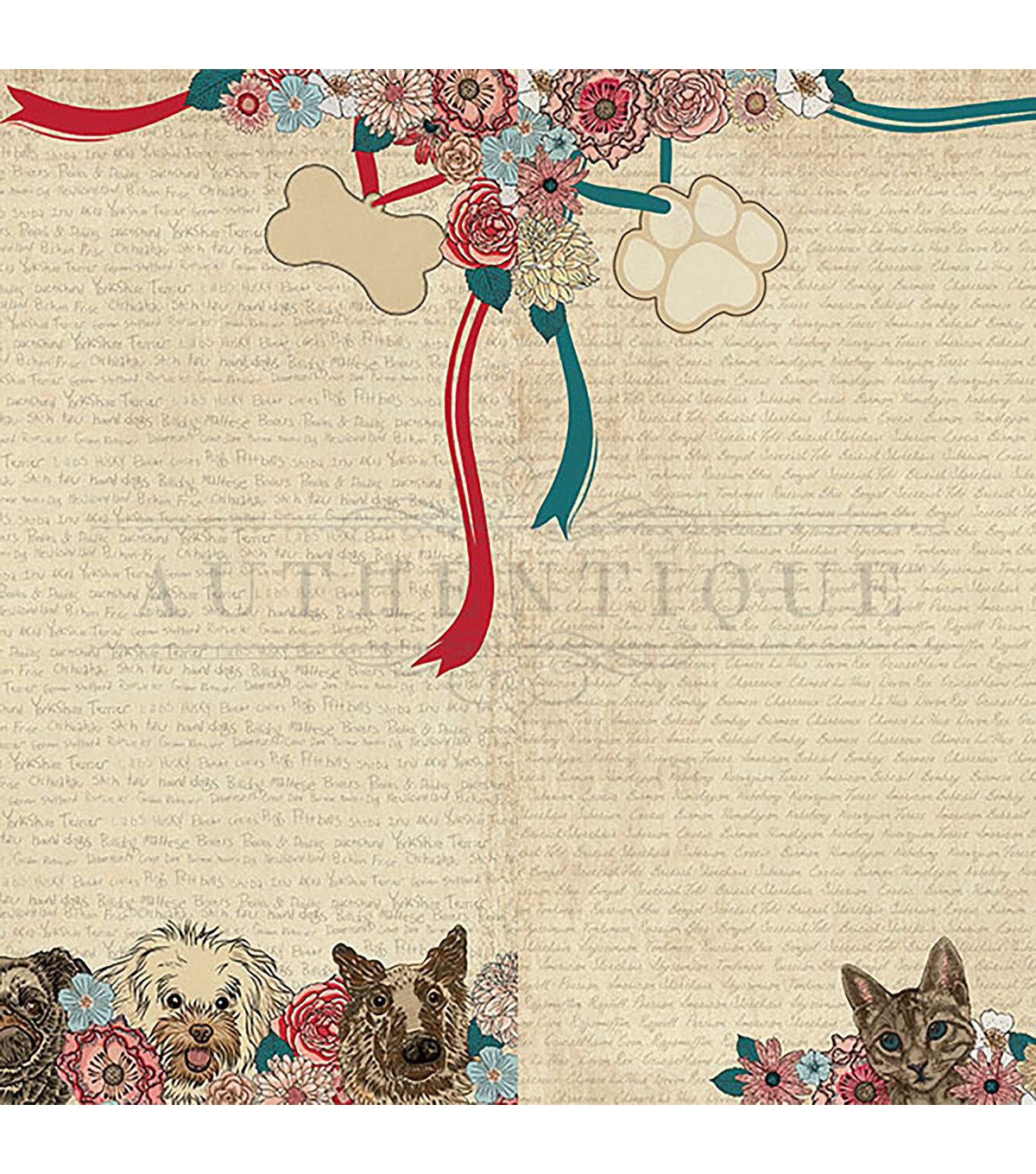 Companions Double-Sided Cardstock 12\u0022X12\u0022-#5 Dog/Cat Faces