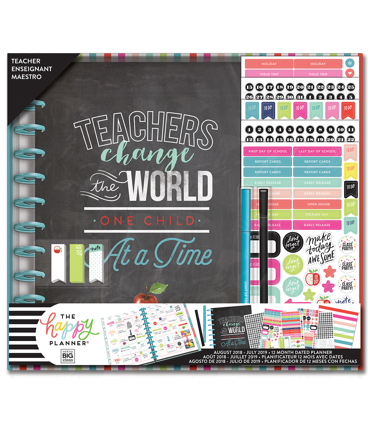 I Heart My School me /& my BIG ideas 8-Inch x 8-Inch Scrapbook Page Kit