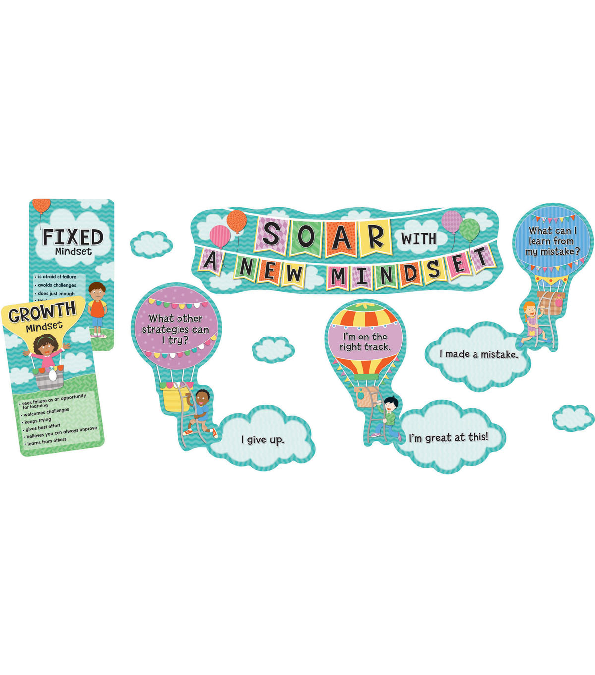 Soar with a New Mindset Mini Bulletin Board Set, 3 Sets