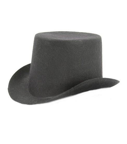 fdb6b409171 Stiffened Felt Top Hat 5-1 2 u0027 u0027-Black