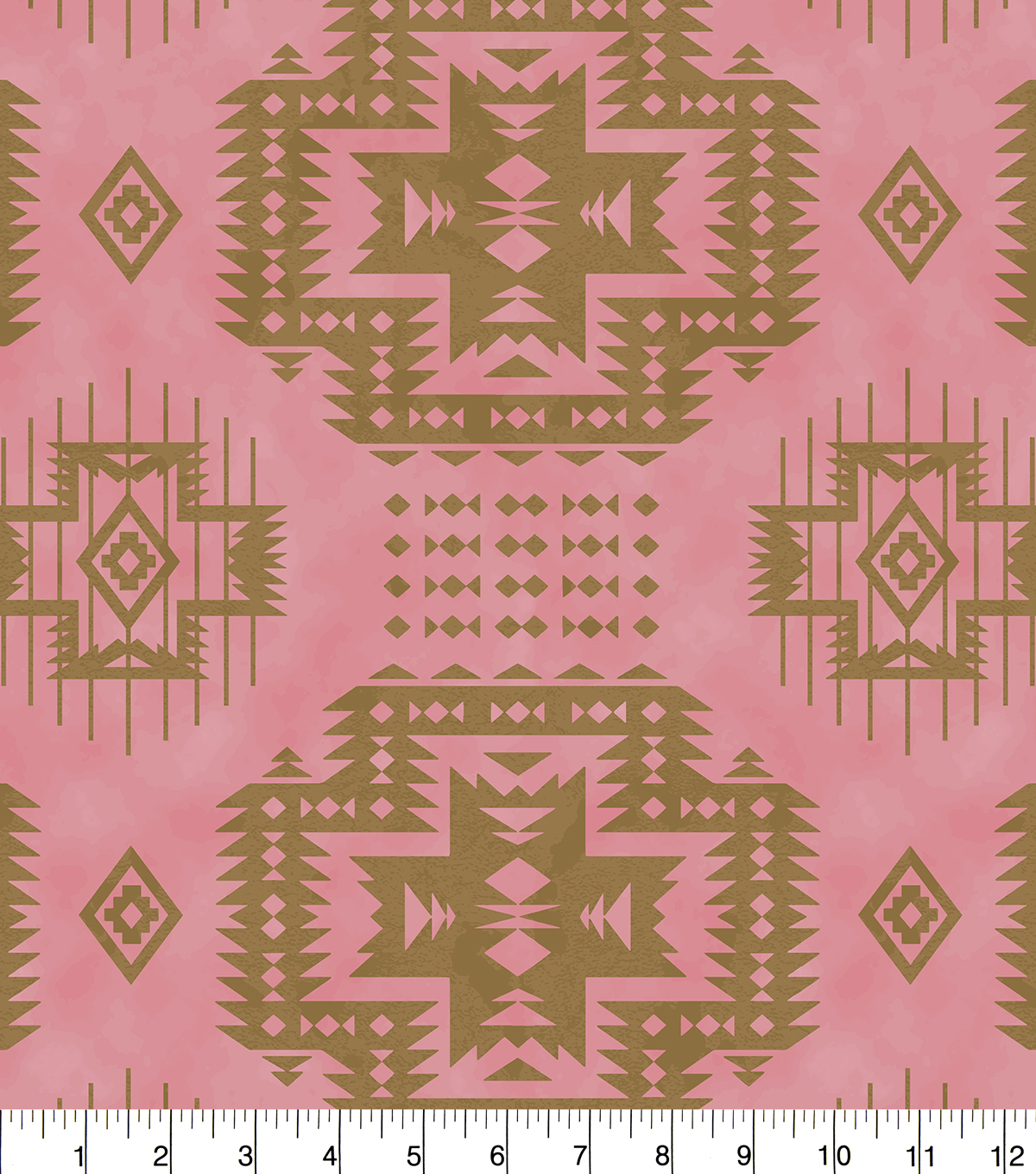 Anti-Pill Fleece Fabric 58\u0022-Aztec Pink Gold