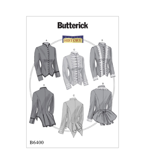 Butterick Pattern B6400 Misses\u0027 Boned, Back-Pleat Jackets-Size 6-14