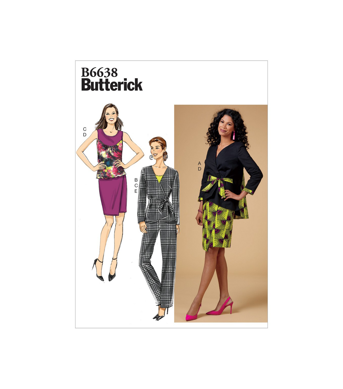 Butterick Pattern B6638 Misses\u0027 Apparel-Size 8-10-12-14-16