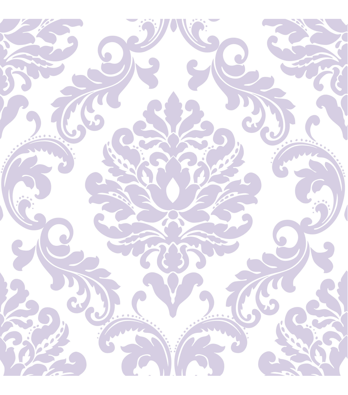WallPopsNuWallpaper Purple Ariel Damask Peel And Stick Wallpaper