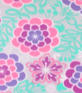 Blizzard Fleece Fabric 59\u0022-Charmed Floral