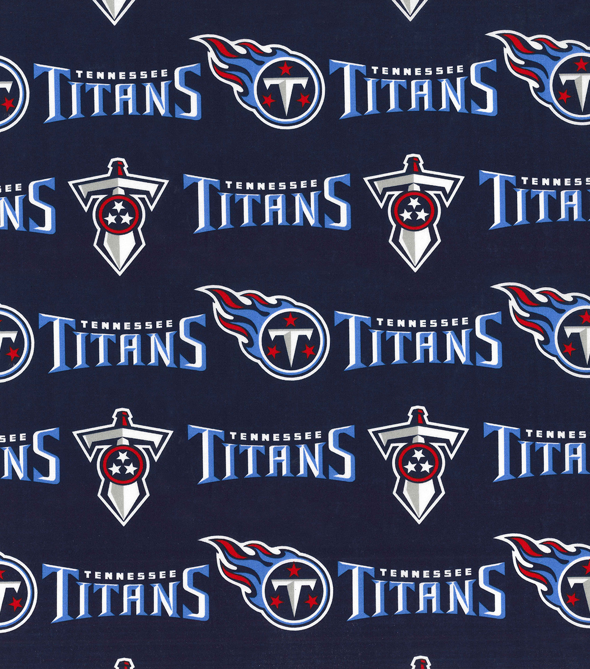 Tennessee Titans Cotton Fabric-Logo Blue