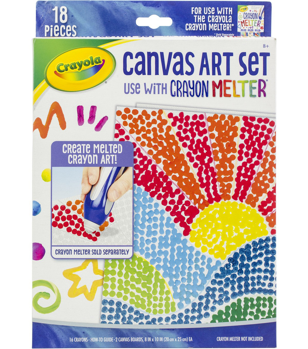 Crayola Crayon Melter Accessory Pack-Canvas Art 18/Pkg