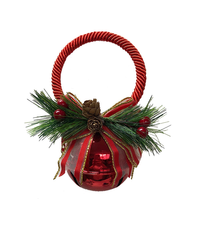 Maker S Holiday Christmas 70 Mm Jingle Bell Door Knob Hanger Shiny