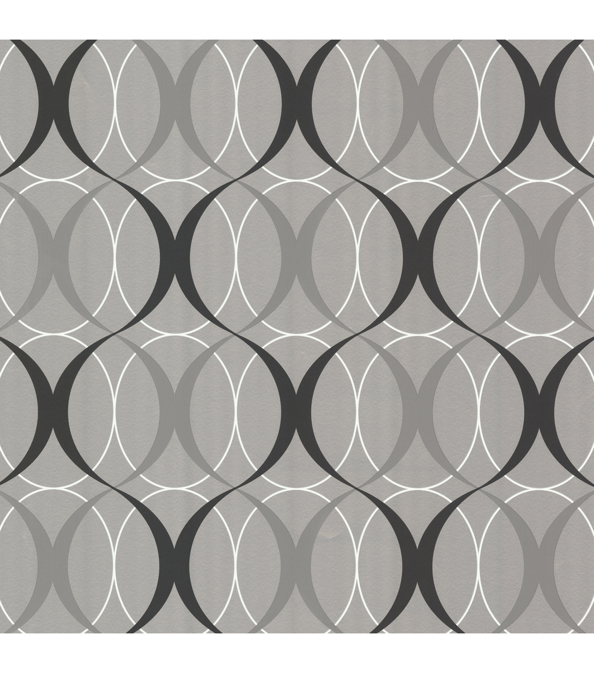 Circulate Silver Retro Orb Wallpaper Sample