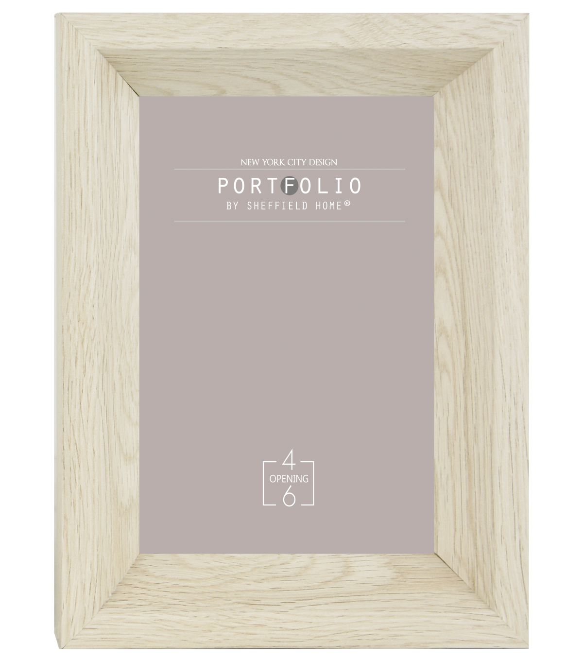 Sheffield Home Portfolio Casual Rustic Deep Profile Frame 4\u0027\u0027x6\u0027\u0027-White