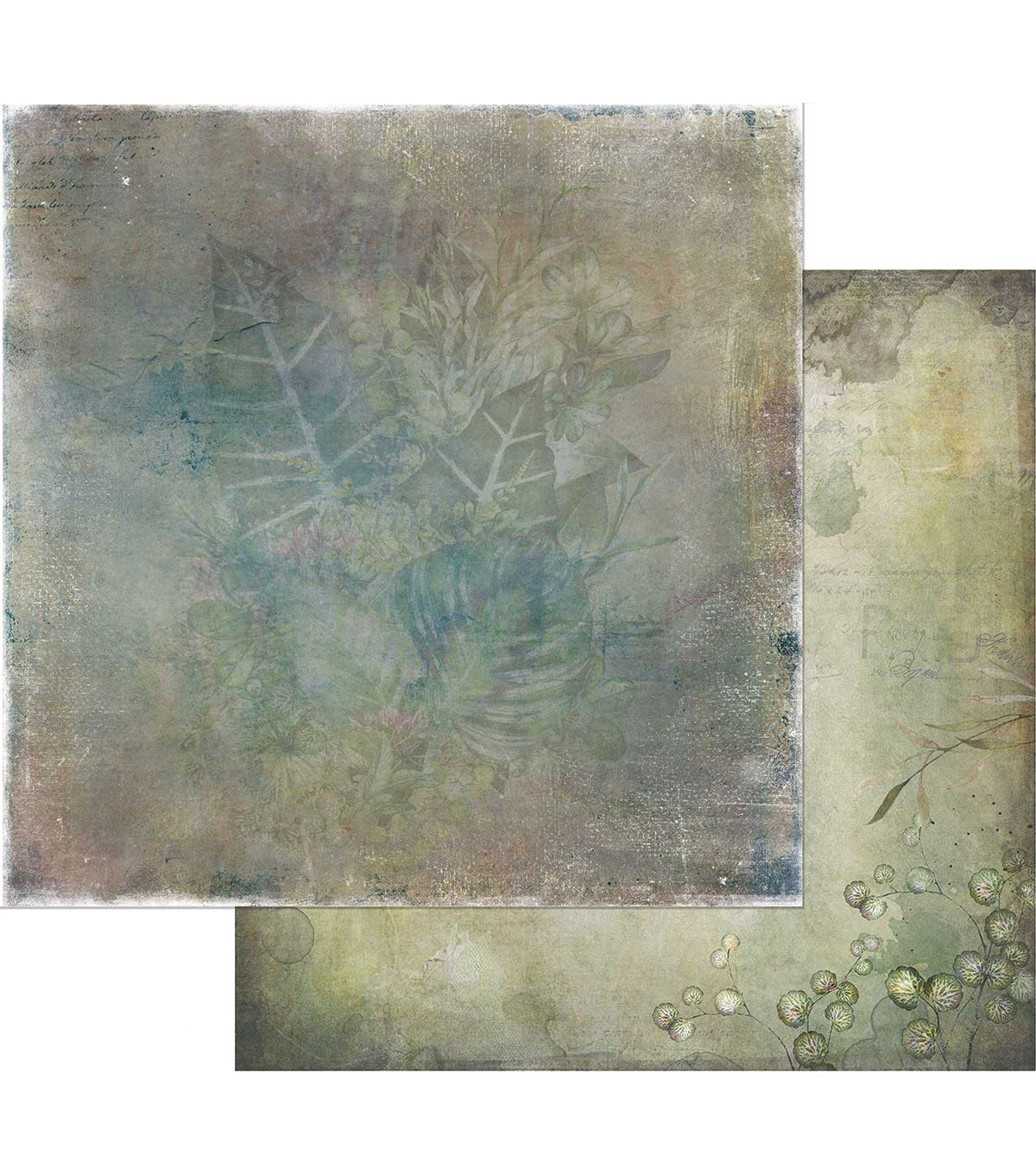 49 & Market Tattered Garden 20 pk Double-Sided Cardstock-Tattered Leaves