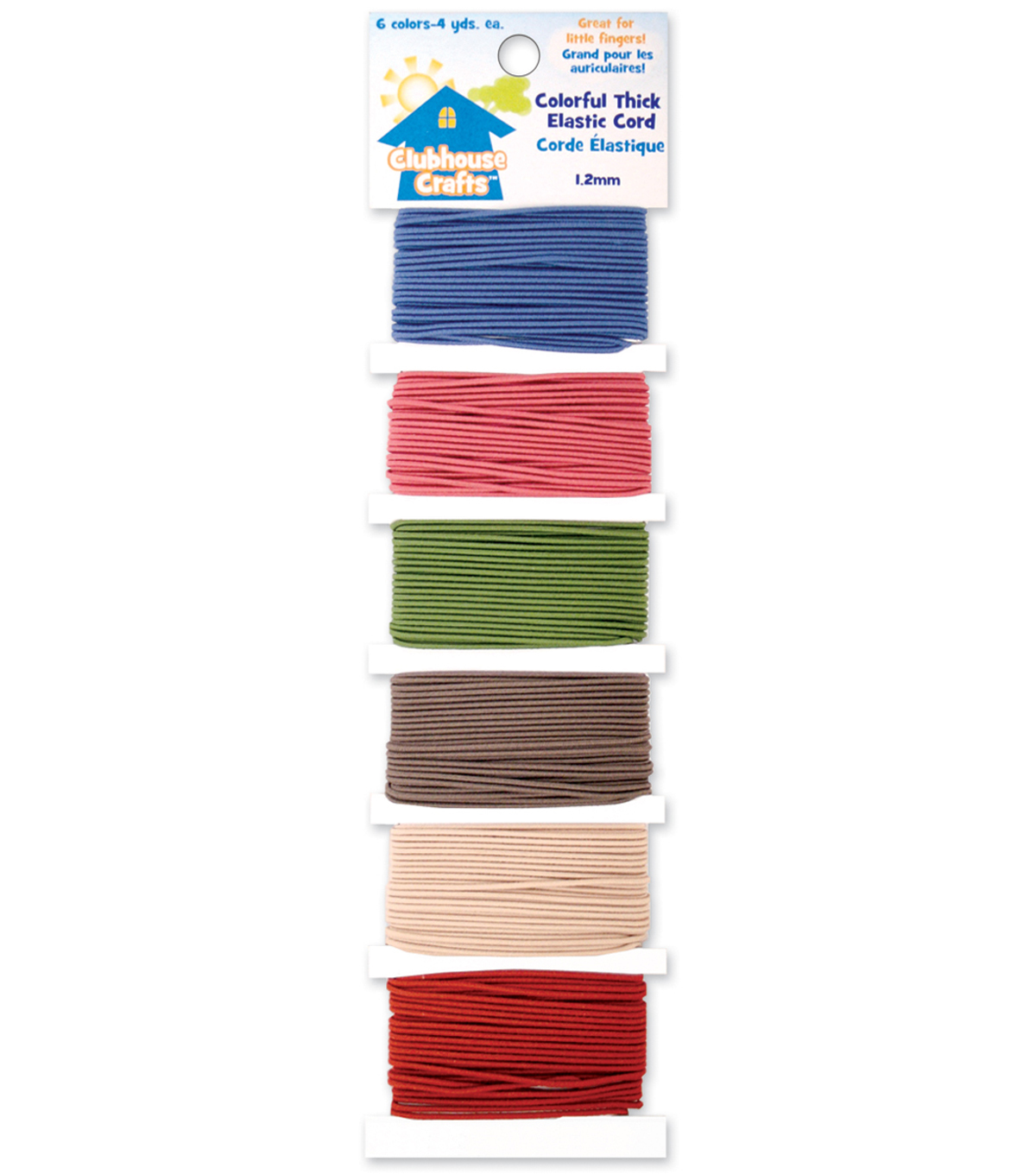 Sulyn Clubhouse Crafts-Colorful Thick Elastic Cord-6 Colors