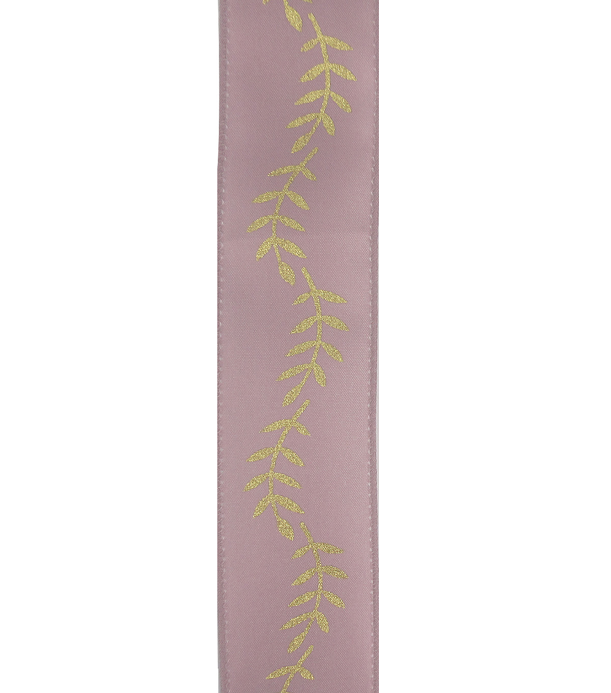 Save the Date 1.5\u0022 x 15ft Ribbon-Gold Fern On Mauve