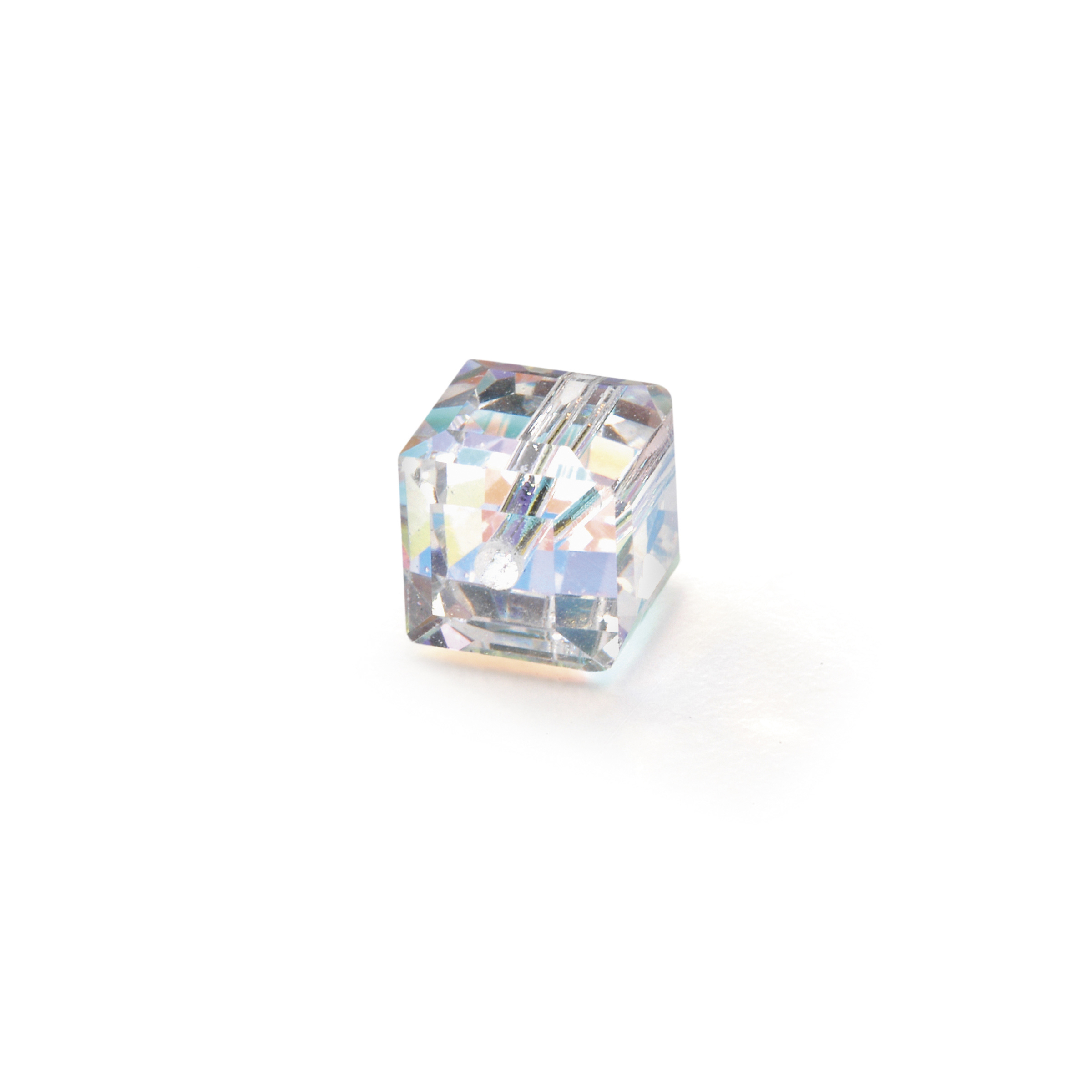 8mm Facet Cube Bead Crystal