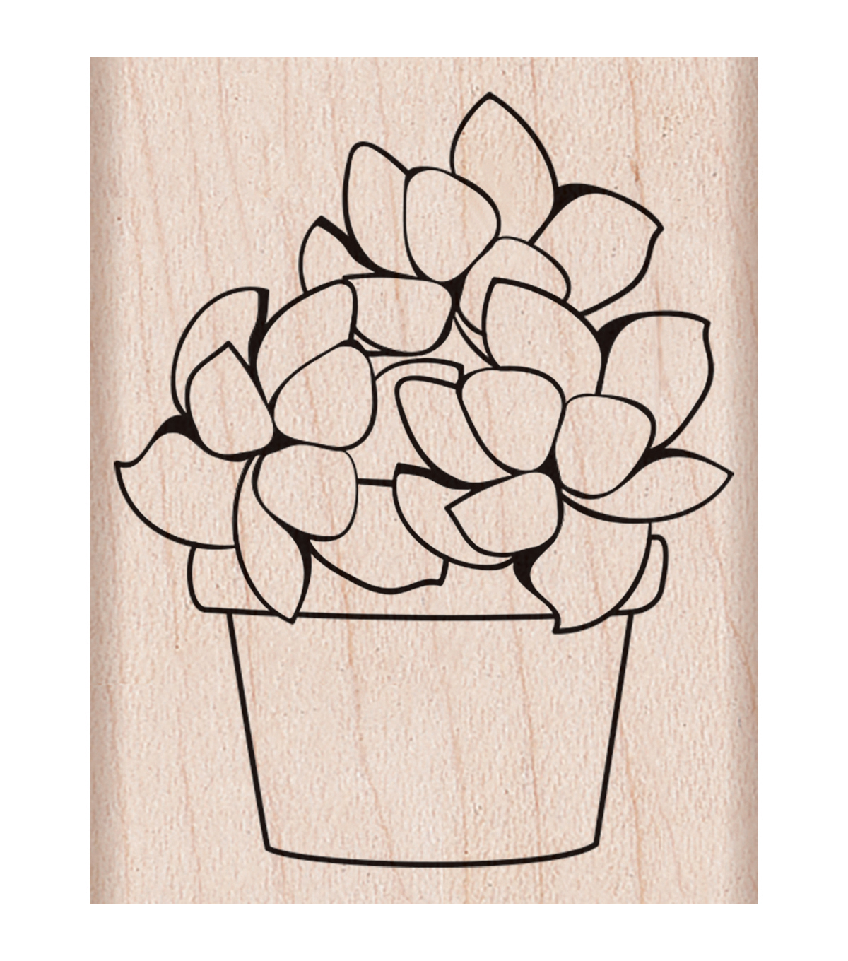 Hero Arts Mounted Rubber Stamp-Small Potted Succulent