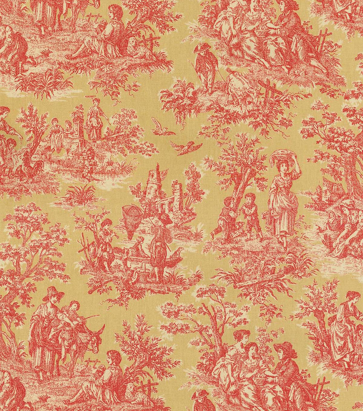 Waverly Upholstery Fabric 54\u0022-Charmed Life/Gold