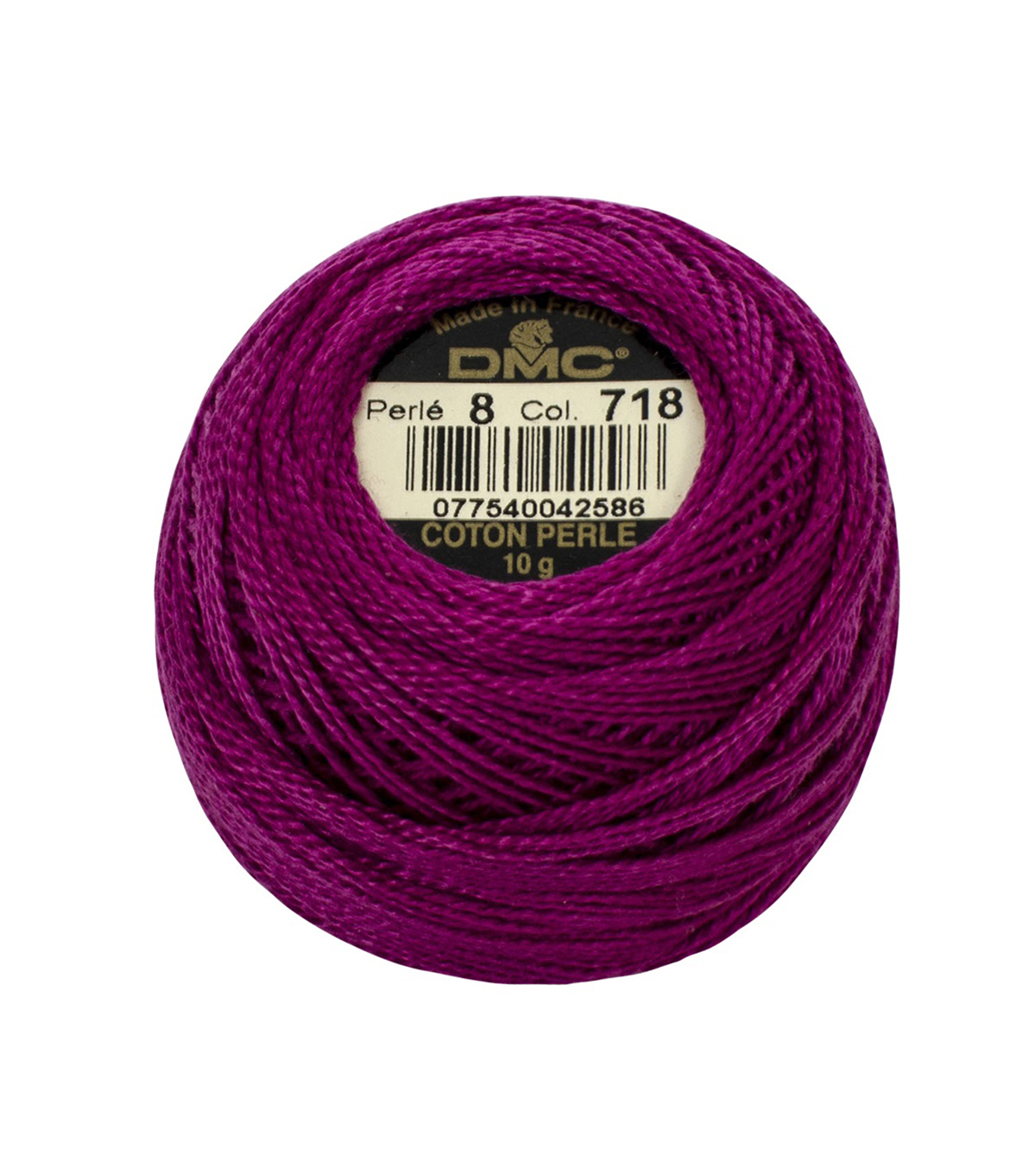 DMC Pearl Cotton Balls Thread 87 Yds Size 8, Plum