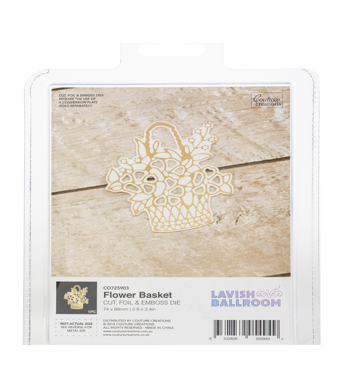 Couture Creations Lavish Ballroom Cut, Foil & Emboss Die-Flower Basket