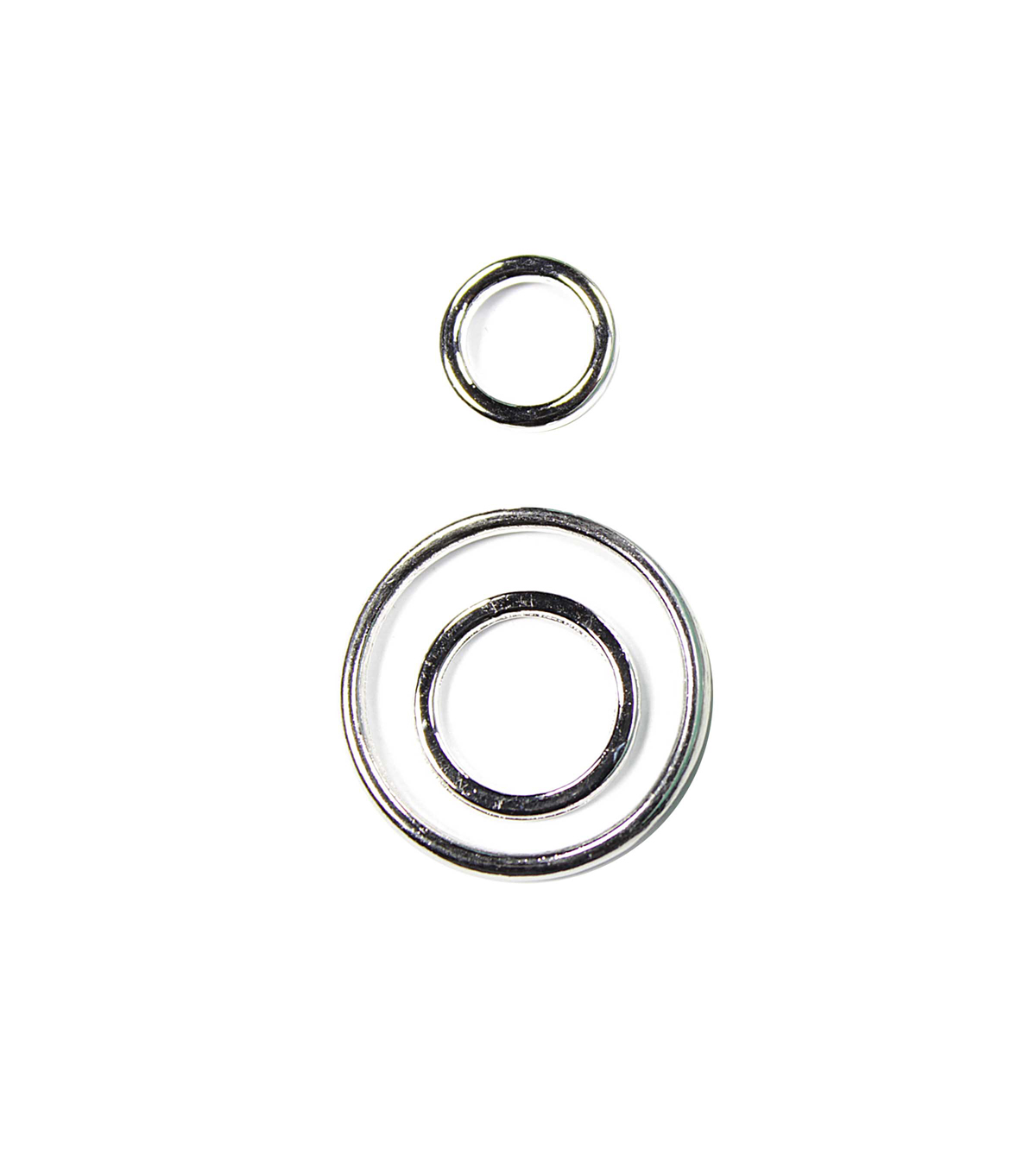 Blue Moon Findings Ring Metal Multi Pack Round Plain Silver