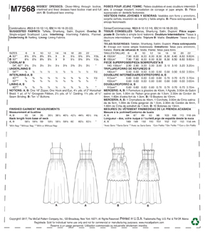 McCall\u0027s Pattern M7568 Misses\u0027 Fitted-Bodice, Strap Dresses-Size 14-22