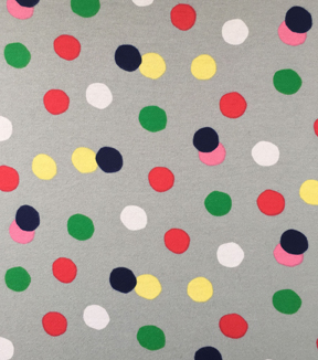 Doodles Collection Interlock Fabric-Interlock Big Dots Gray
