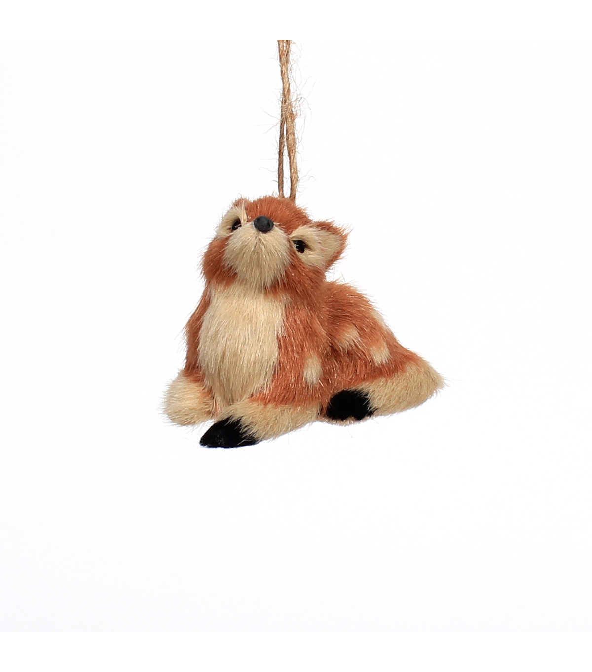 Maker\u0027s Holiday Christmas Furry Sitting Baby Deer Ornament