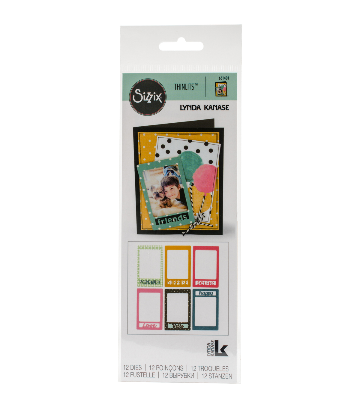 Sizzix Thinlits 12 Pack Dies-Photo Frame & Words