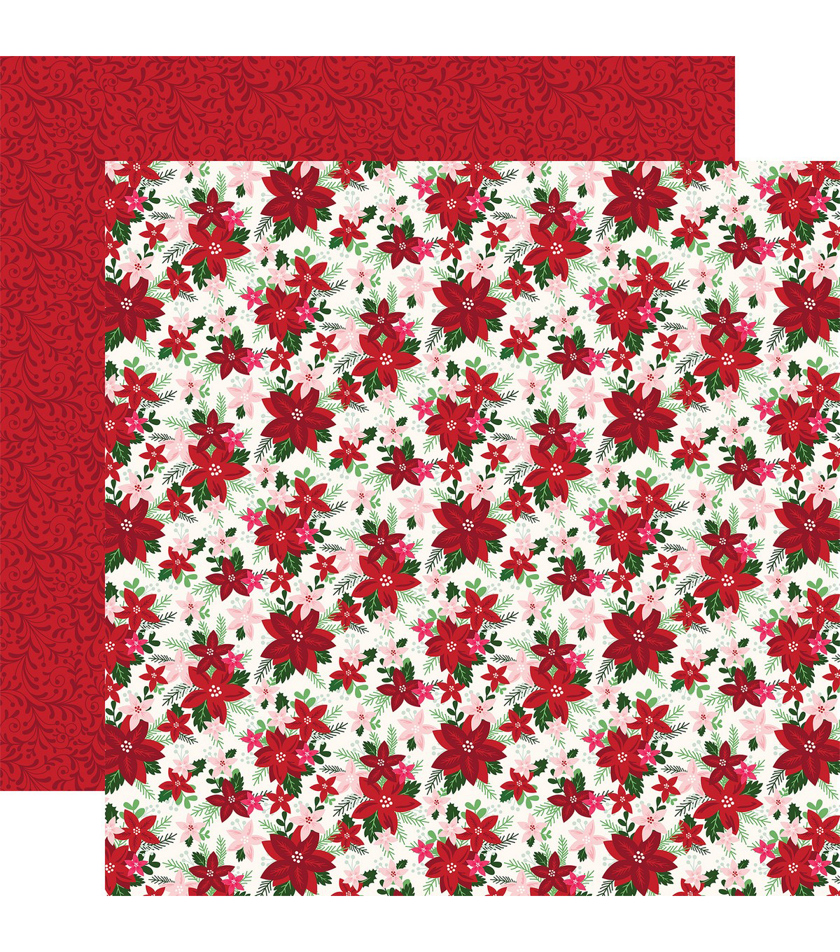 Merry & Bright Double-Sided Cardstock 12\u0022X12\u0022-Bright Bouquet