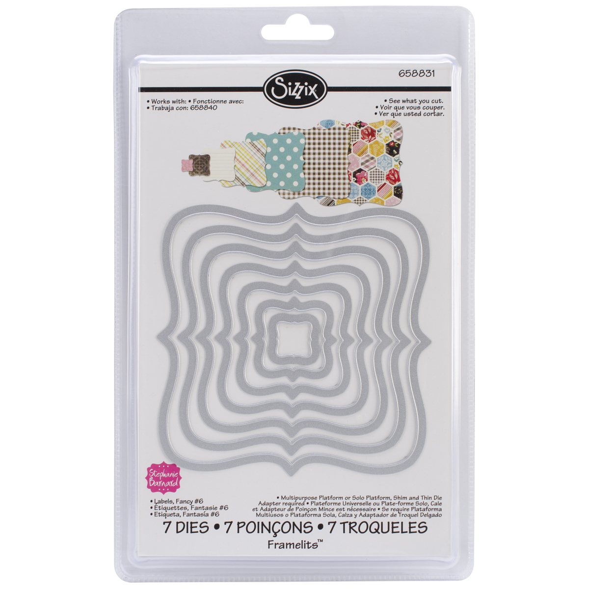 Sizzix Framelits Dies Fancy Labels #6