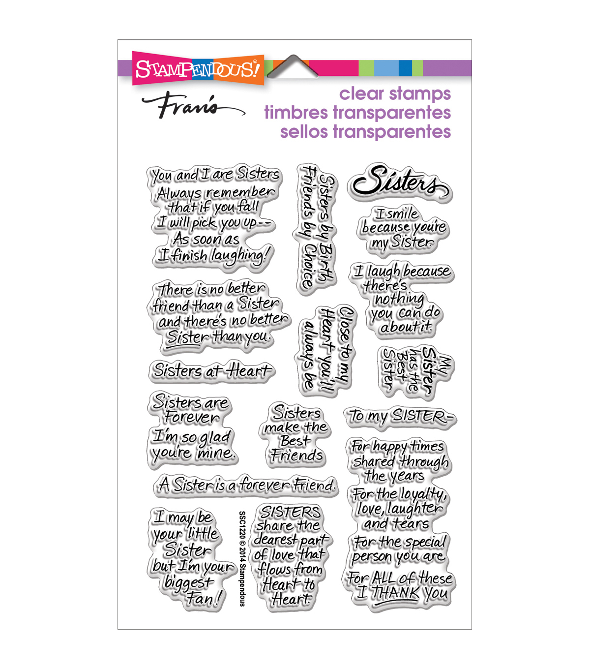Stampendous Perfectly Clear Stamps 4\u0022X6\u0022 Sheet-Sisters