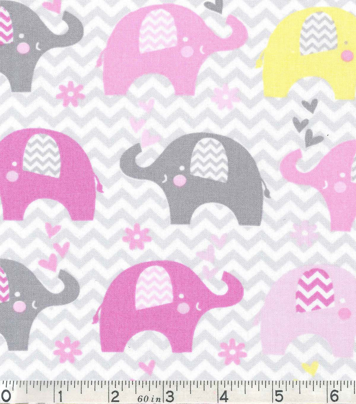 Nursery Cotton Fabric Dream Elephant