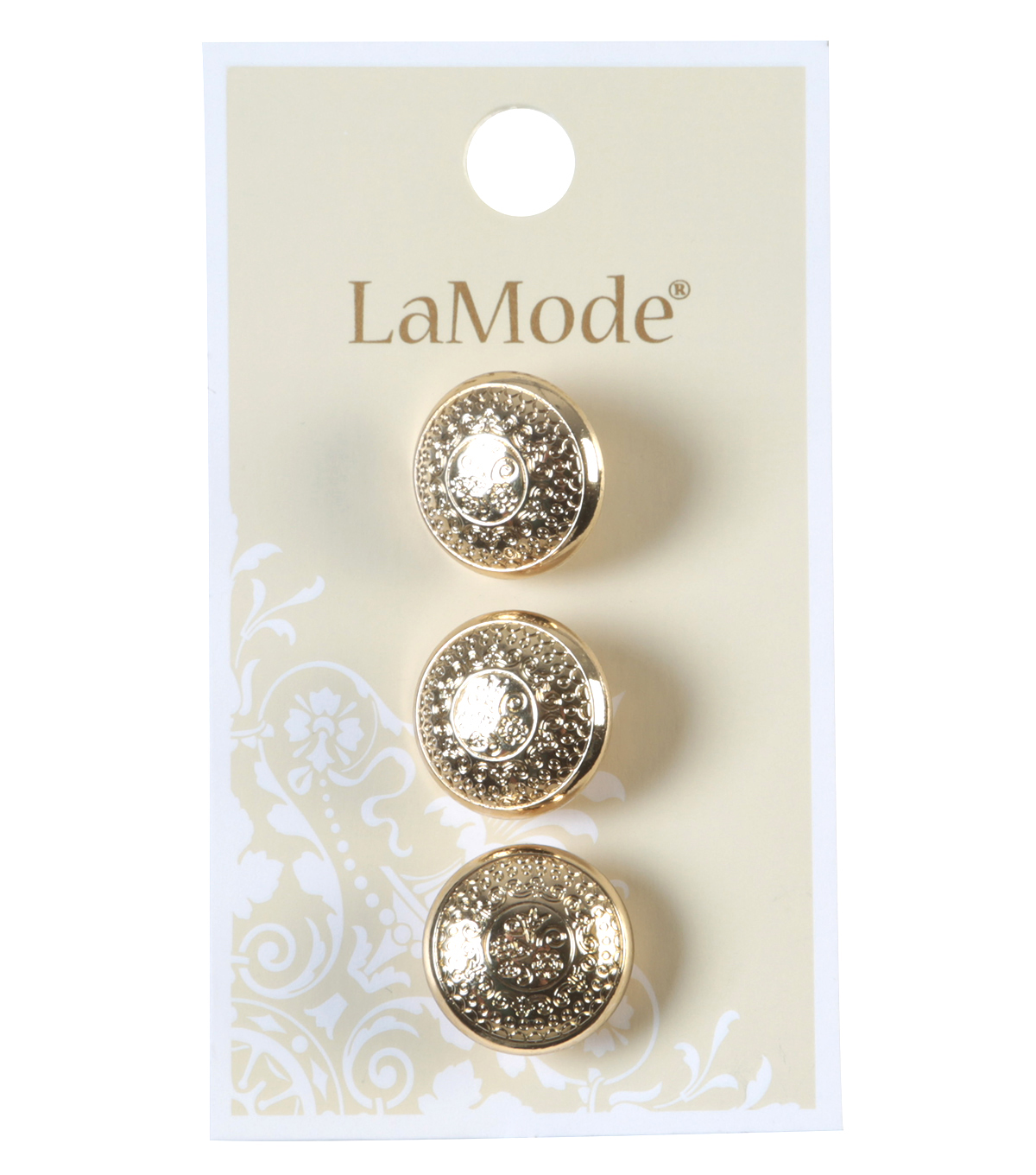 LaMode Gold Etched Buttons 16mm