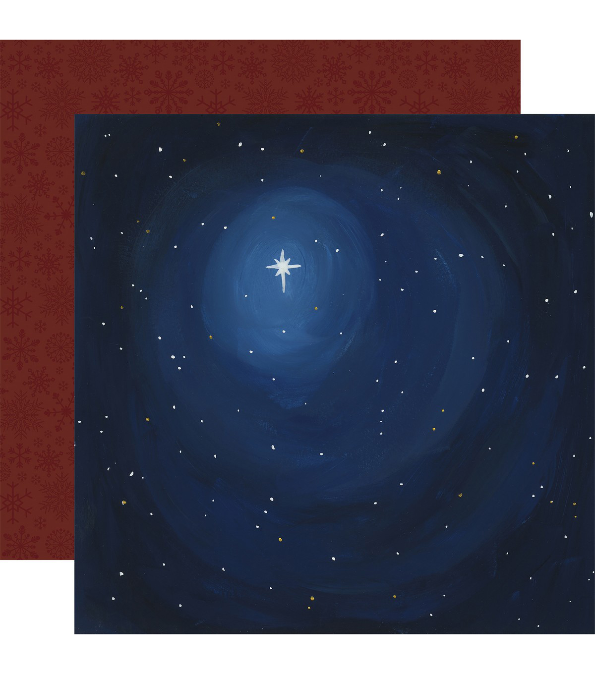 Oh Holy Night Double-Sided Cardstock 12\u0022X12\u0022-All Is Calm