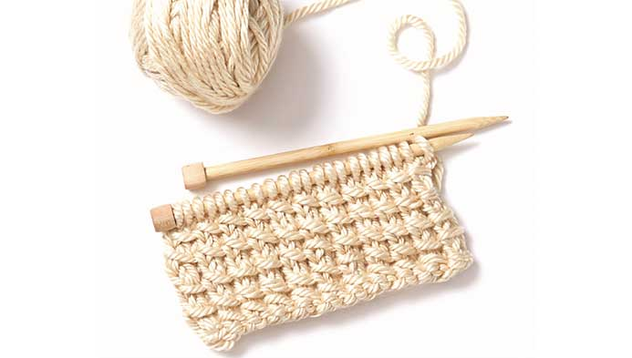 Knit Bamboo Stitch
